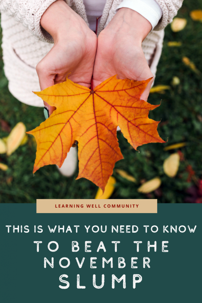 """The November slump is coming, homeschool mamas! Let's get ready together and ward off the """"blahs"""" and burnout by keeping it fresh--here are lots of ideas!"""