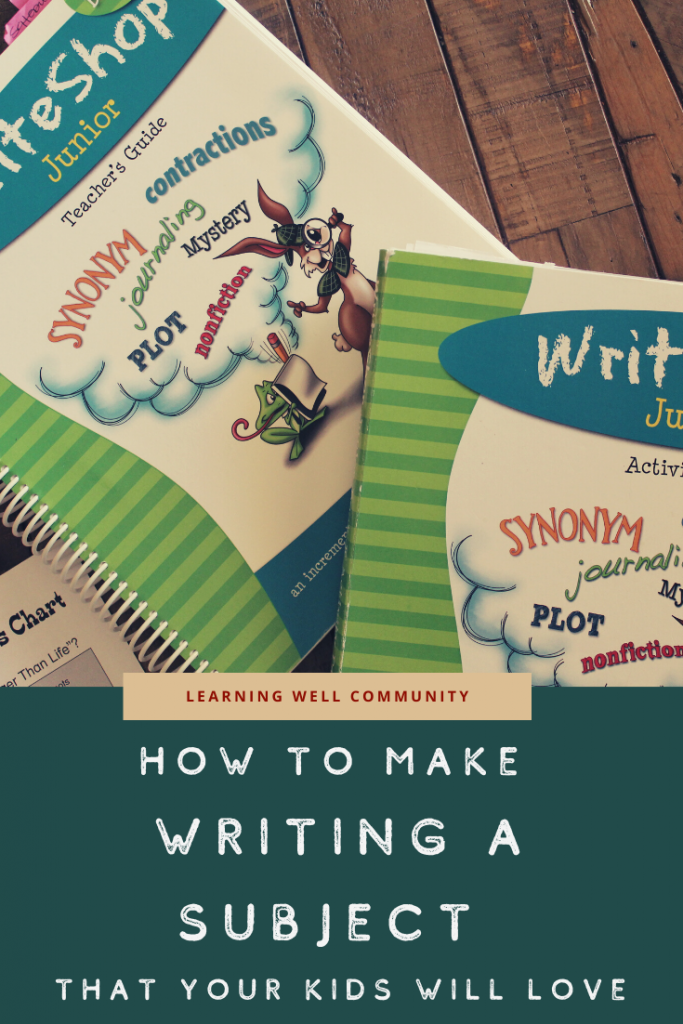 Writing can be one of the hardest subjects to teach in your homeschool. I want to share a resource that has been teaching my kids to love to write!
