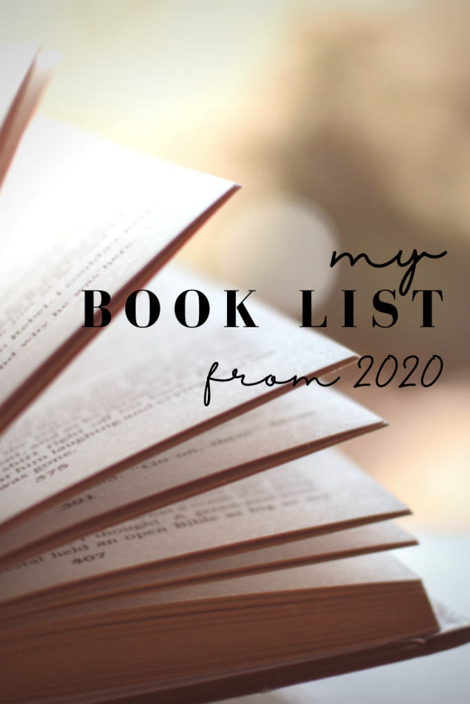 My book list from 2020. Read alouds, fiction and nonfiction.
