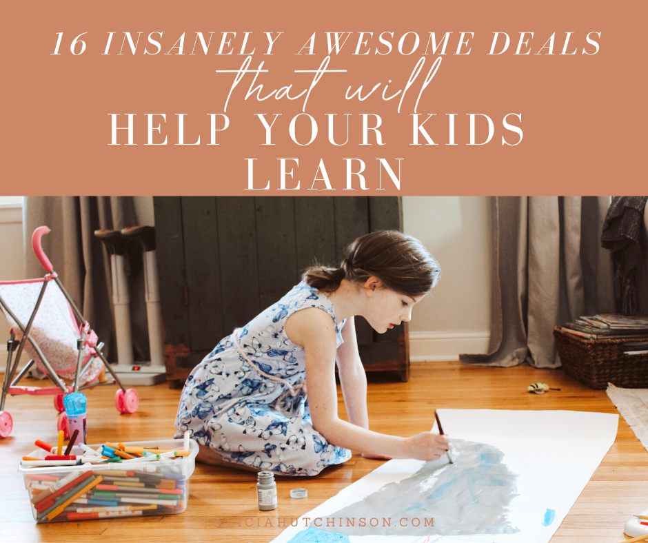 There are some insanely awesome homeschool deals going on! Alicia has organized the best homeschool deals into a list just for you!
