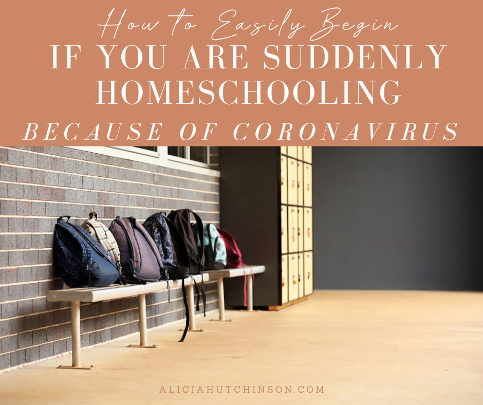Parents are suddenly homeschooling because of Coronavirus. Nervous? Let Alicia, homeschooling mom of 12 years, ease worry with resources to get you started.