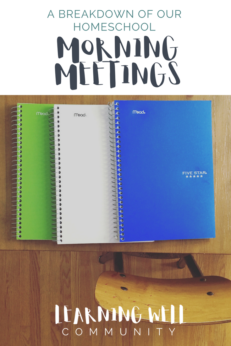 Does your morning time need some fresh ideas? Here's a complete breakdown of our homeschool morning meeting for inspiration!