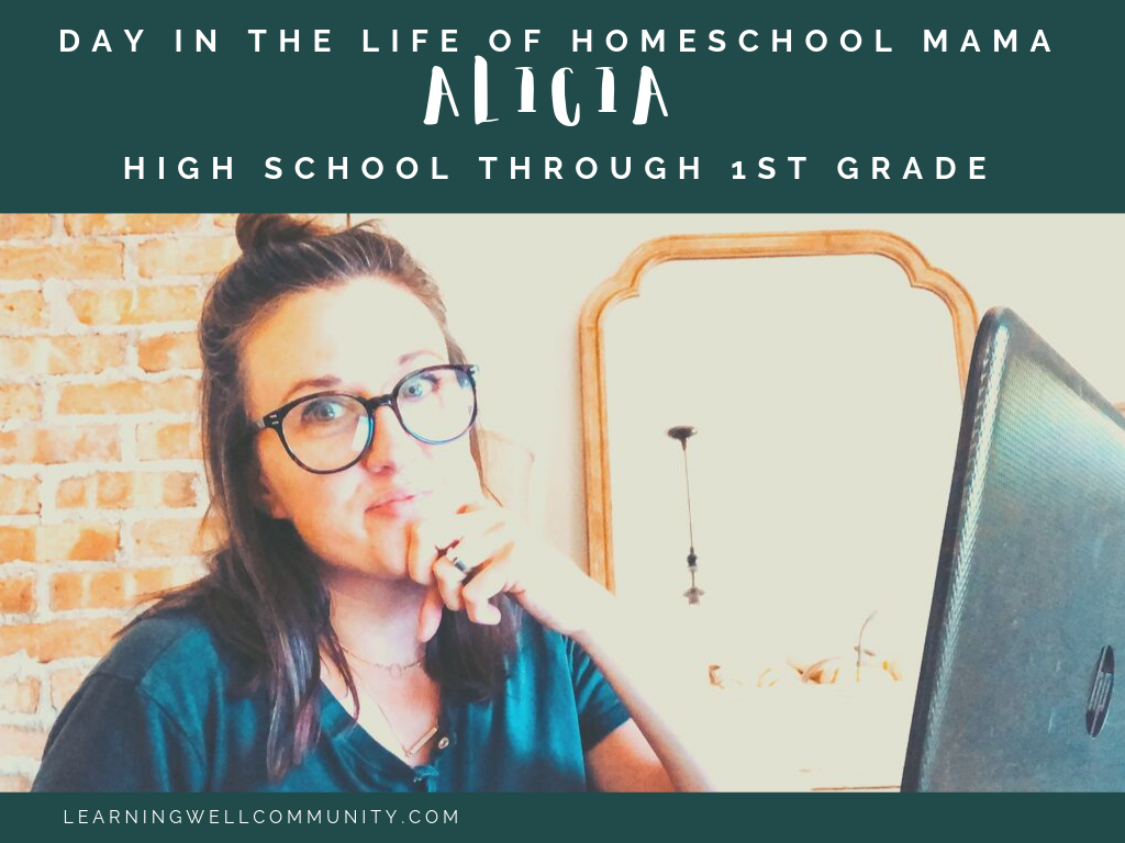 Ever wonder what the day in the life of a homeschool mama looks like? Here's the day in the life of Alicia, mom to a 17, 14, 11, and 6 year old.