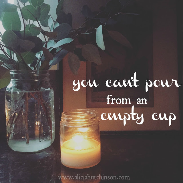 Taking care of yourself can't stop when we become mothers. You can't pour into your family if you, yourself are empty.