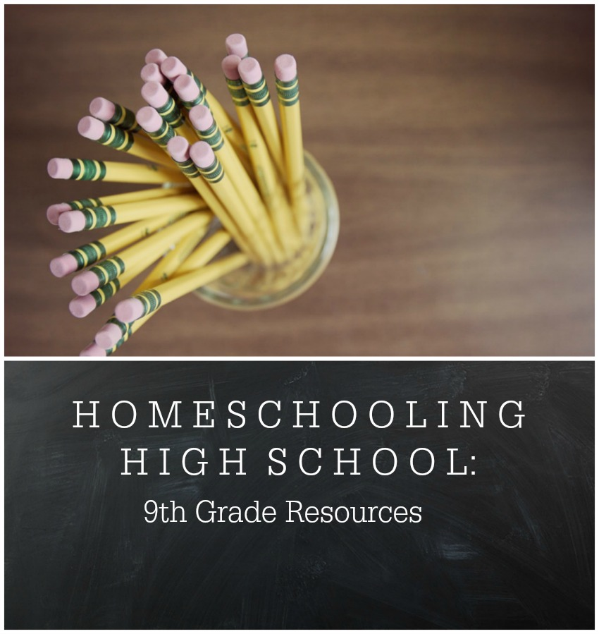 How we're homeschooling high school this year in 9th grade.