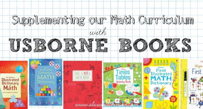 Usborne offers amazing supplemental math books. This is how we're using Usborne math books in our homeschool this year for our 3rd, 5th, and 9th graders.