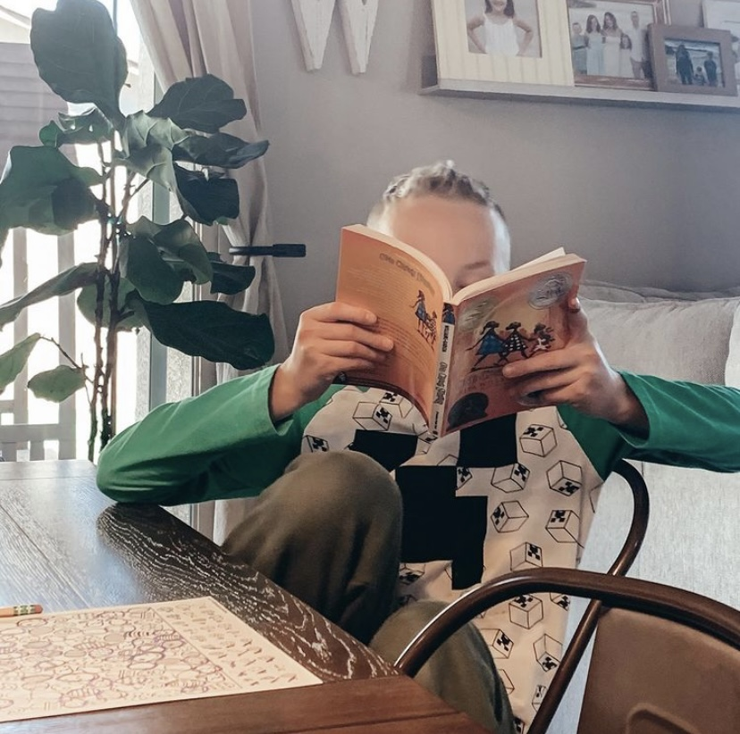 Reading aloud Ashlee