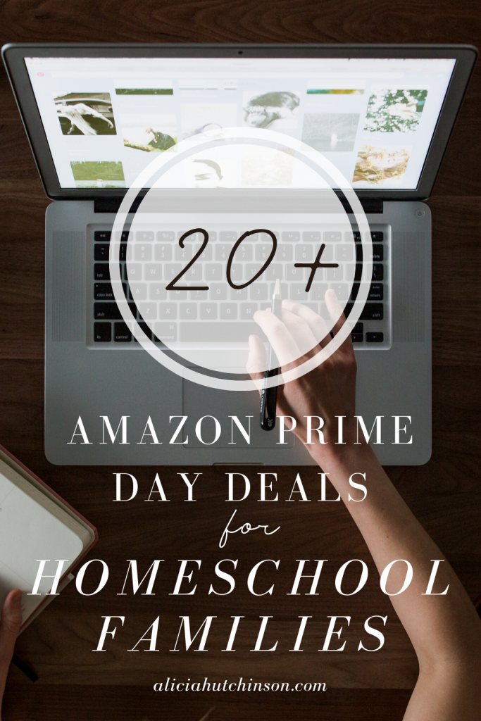 Alicia's top picks for Amazon Prime Day deals for homeschoolers. Check out deals for home, homeschool, and Christmas gift ideas too!