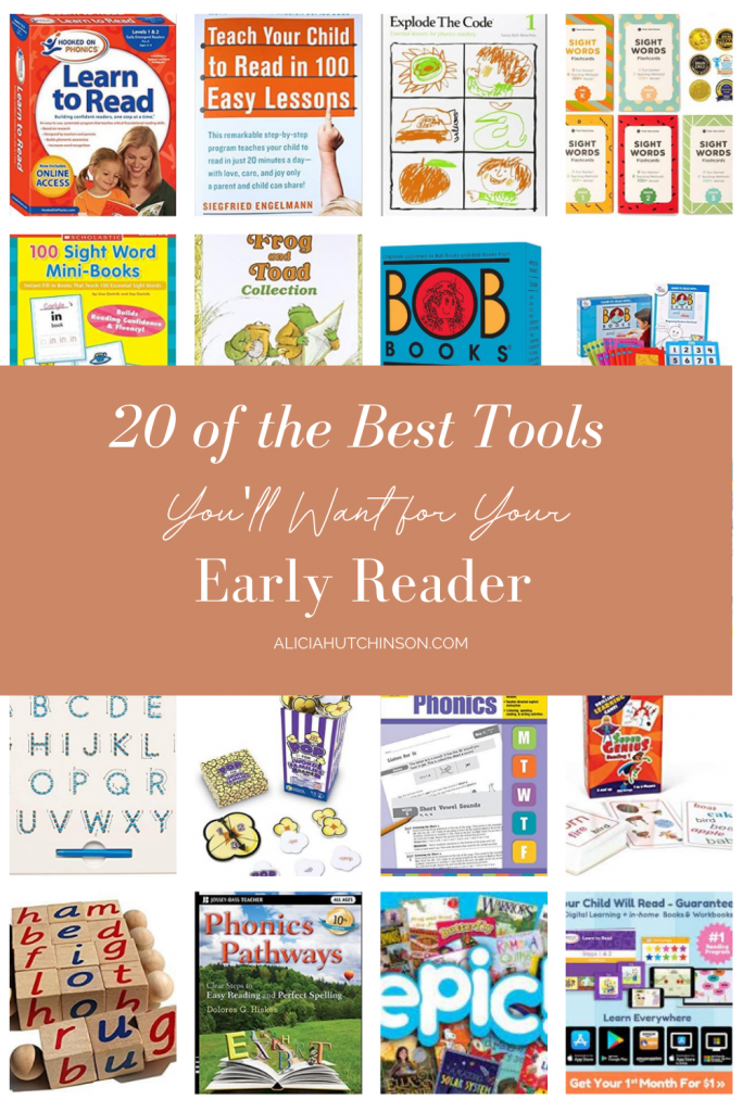 Teaching your child to read can be tricky, but here is a tried and true list of early reader tools your kids will adore!