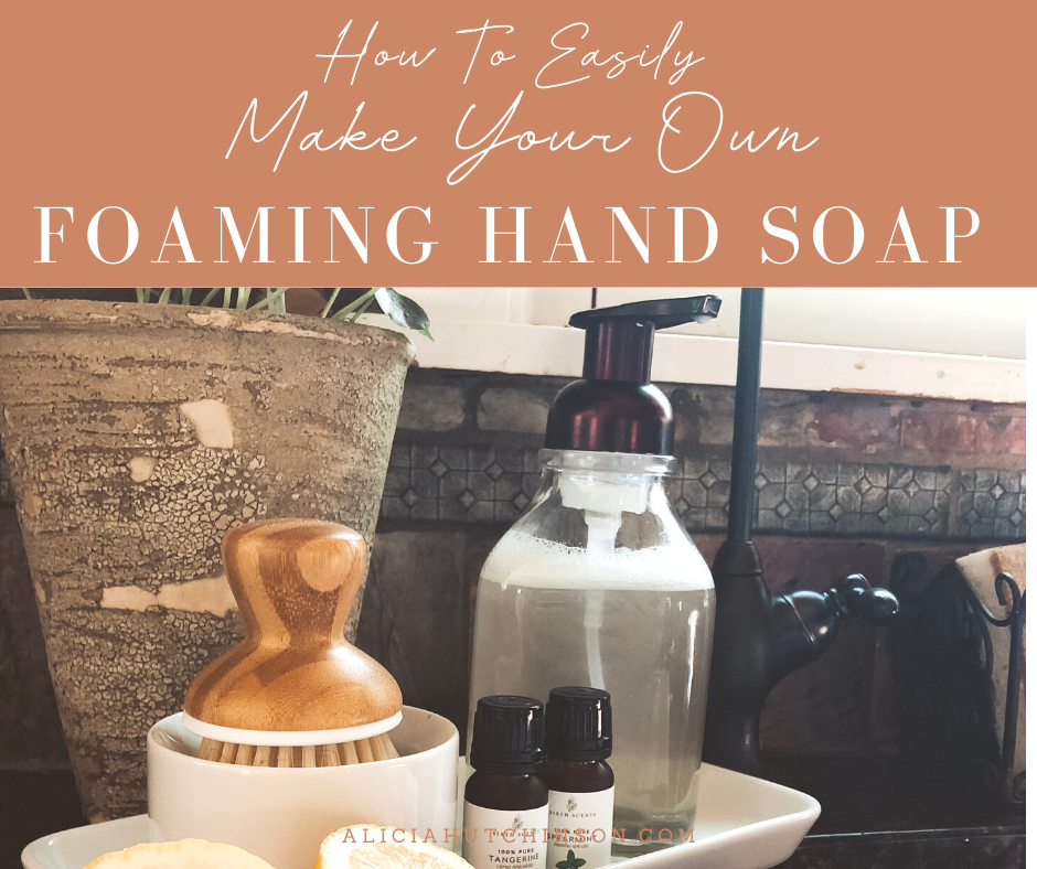 You can easily make your own foaming hand soap with just a few simple ingredients. Here is your simple tutorial to make it in about five minutes!